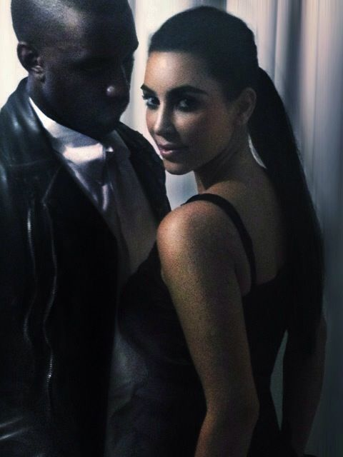 Kanye West & Kim Kardashian's first photoshoot as a couple