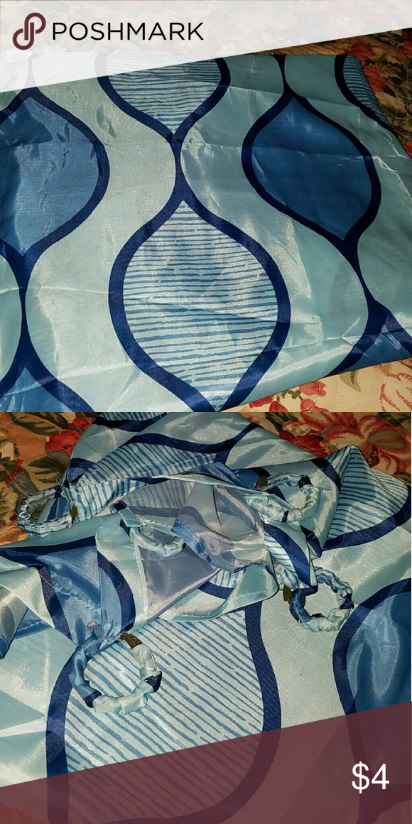 Used once shower curtain   Blue, Curtains and Other