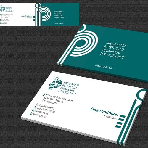 Create a business card for a Canadian insurance brokerage ...