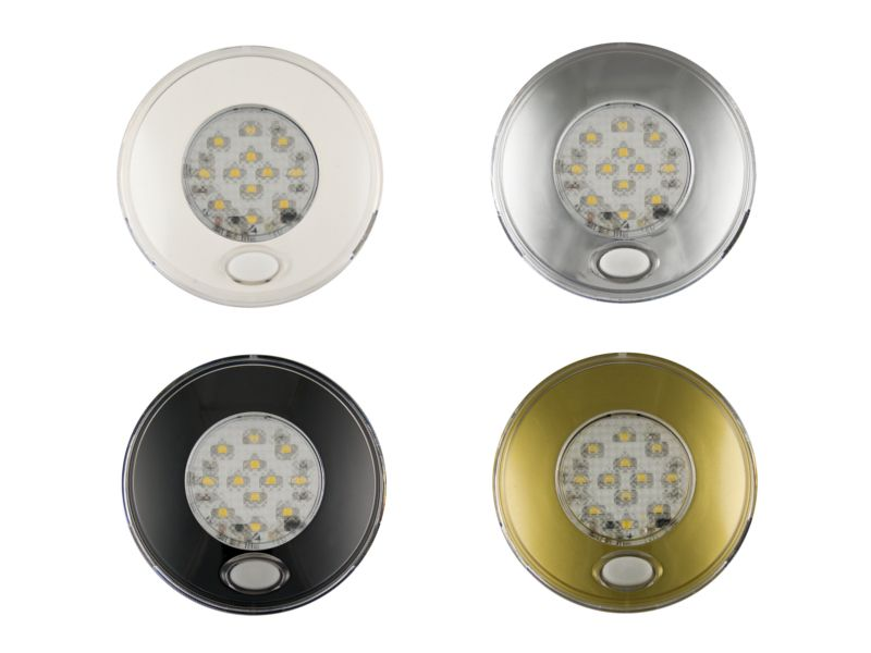 12v Led Round Interior Downlight With Illuminated On Off Switch Downlights Led Ceiling Lights Led