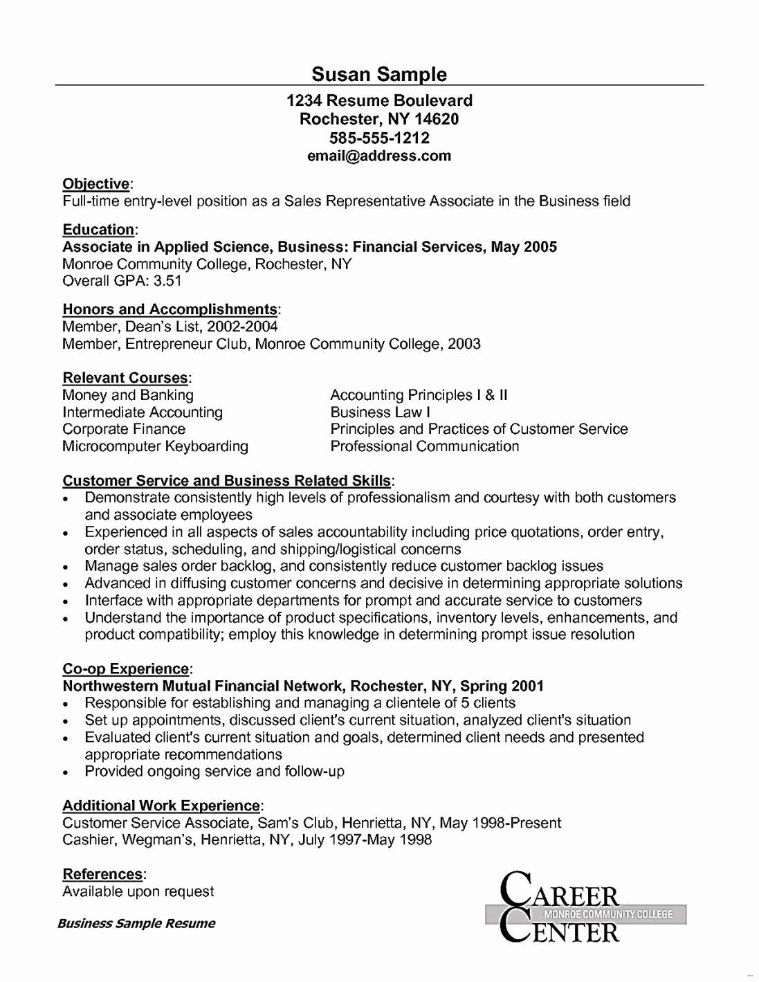 entry level customer service resume new customer service