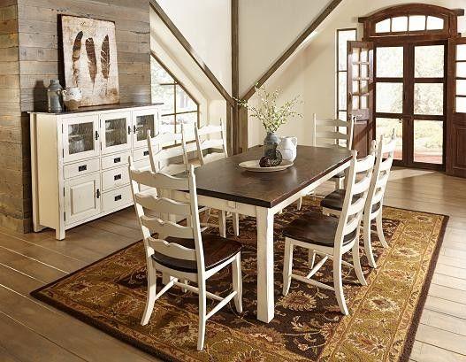 Champlain Almond And Kaffe Set Canadel Furniture Farmhouse
