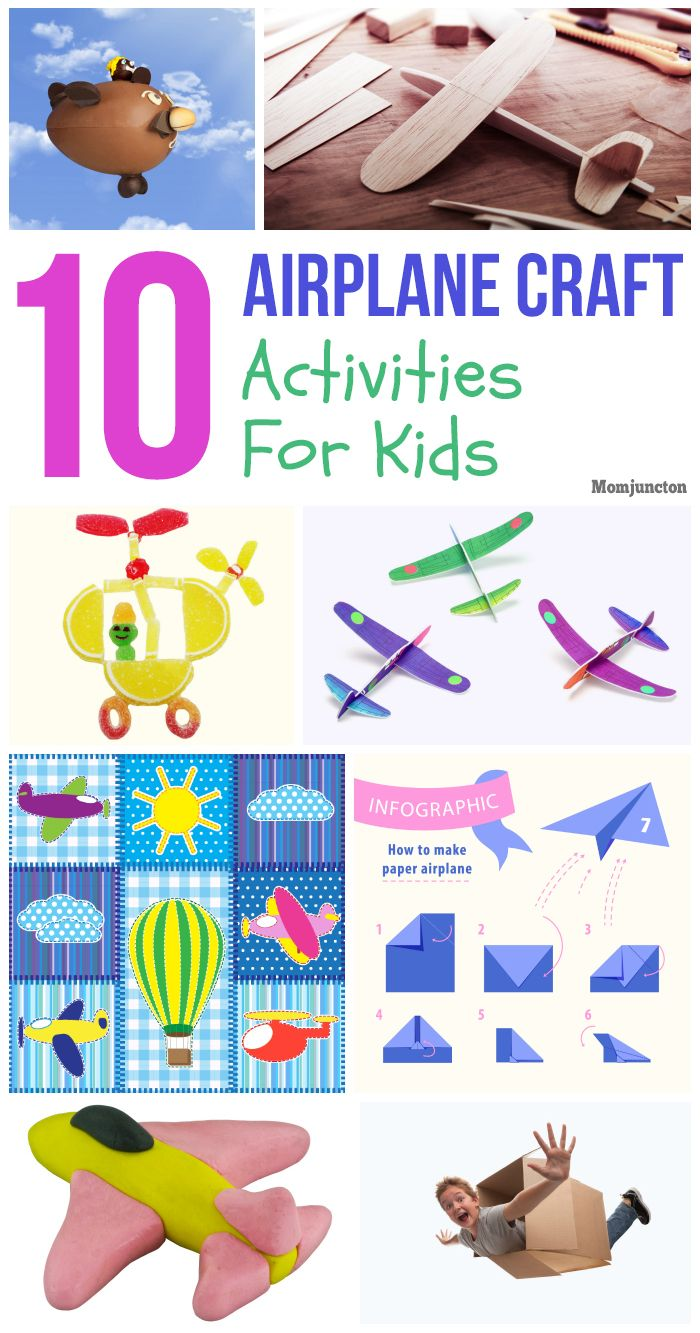 Top 10 Airplane Crafts For Kids Of All Ages | Airplane ...