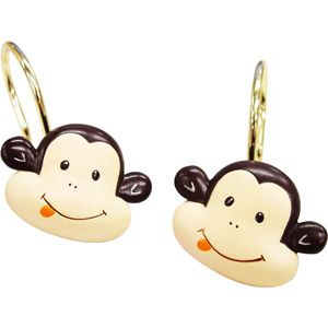 Monkey Shower Curtain Hooks For The Jungle Bathroom