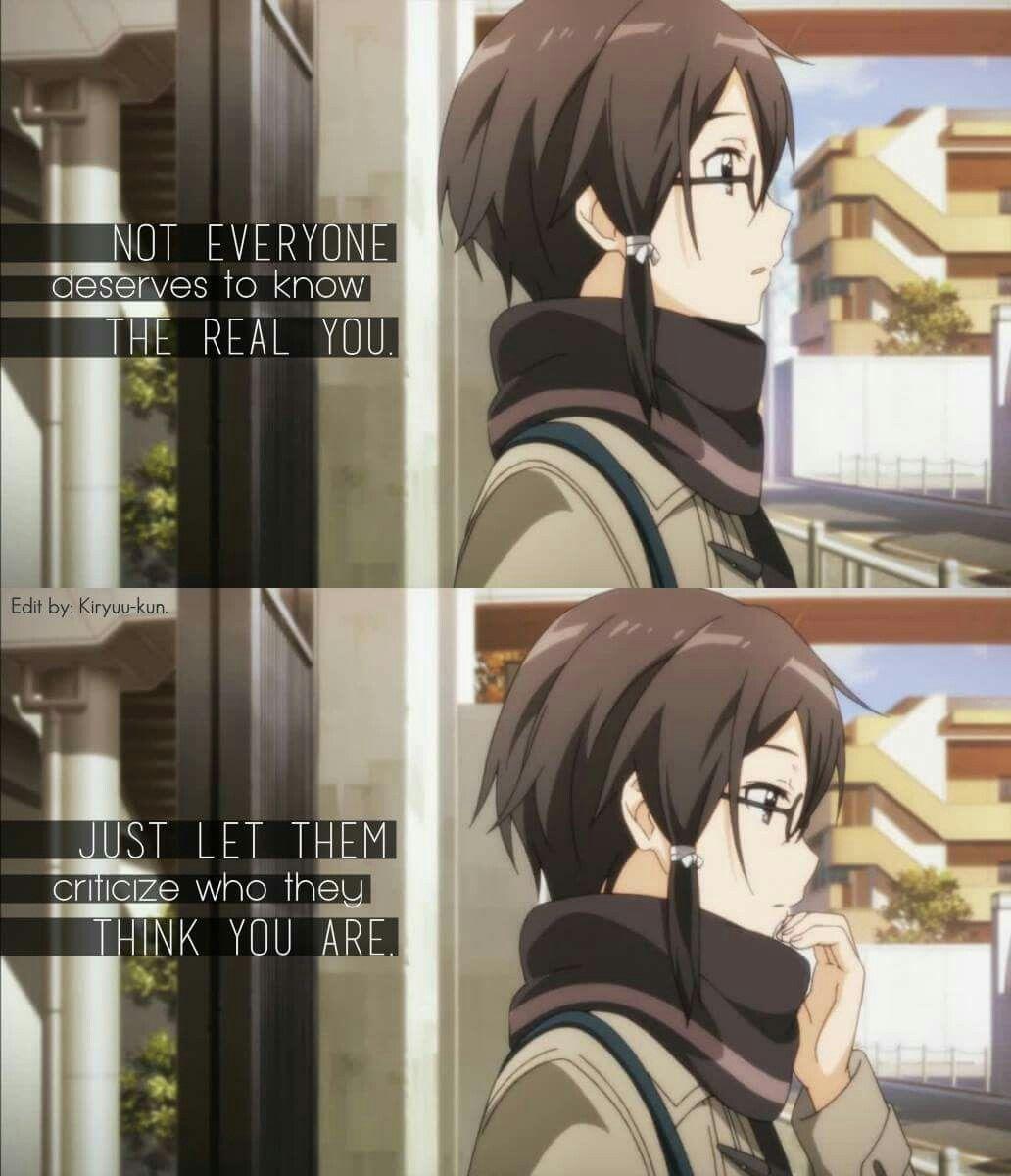 Anime Quote // Sinon // Sword Art Online (SAO) Sword art
