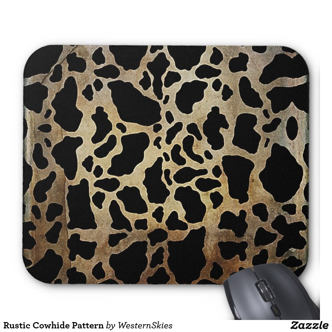 Rustic Cowhide Pattern Mouse Pad