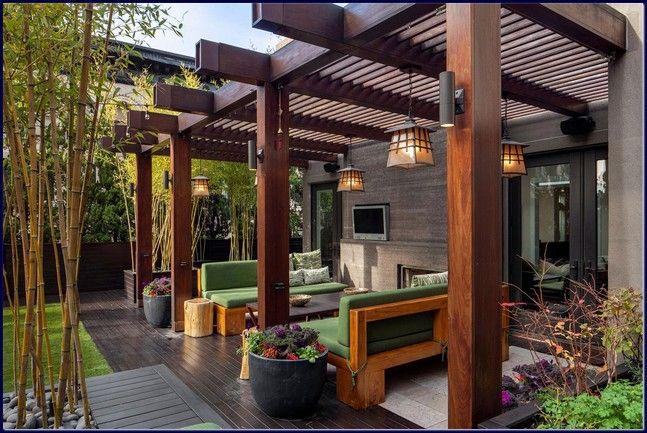 outdoor pergola backyard patio