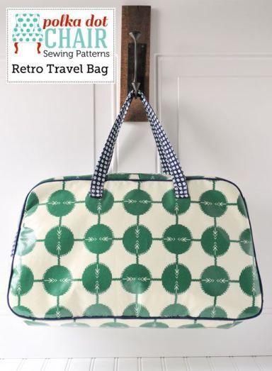 Retro Travel Bag Sewing Pattern | Schnittmuster, Taschen und Reisen