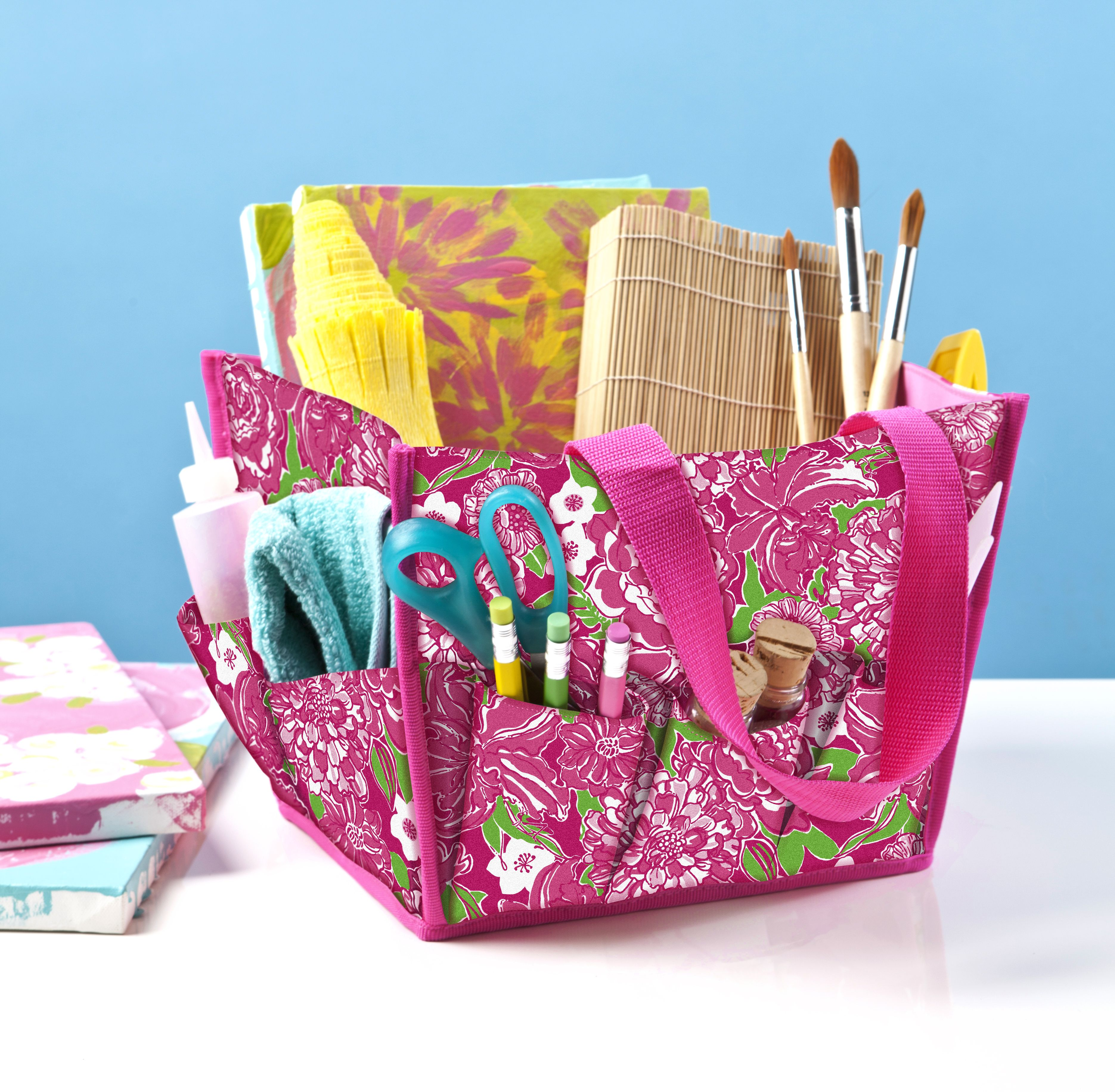 """Lilly Pulitzer Desk Caddy available later this month To enter: 1) Follow @garnethill and @lillypulitzer on Pinterest 2) Create a board titled """"Dream Dorm Room"""" 3) Add a minimum of 4 pins from garnethill.com including our Lilly Pulitzer Home Collection, and at least 2 items from lillypulitzer.com 4) Send us the link to your board at social@garnethill.com by July 27 See our board example: http://ghill.me/NCu8cU Official rules: http://ghill.me/wXYLie"""