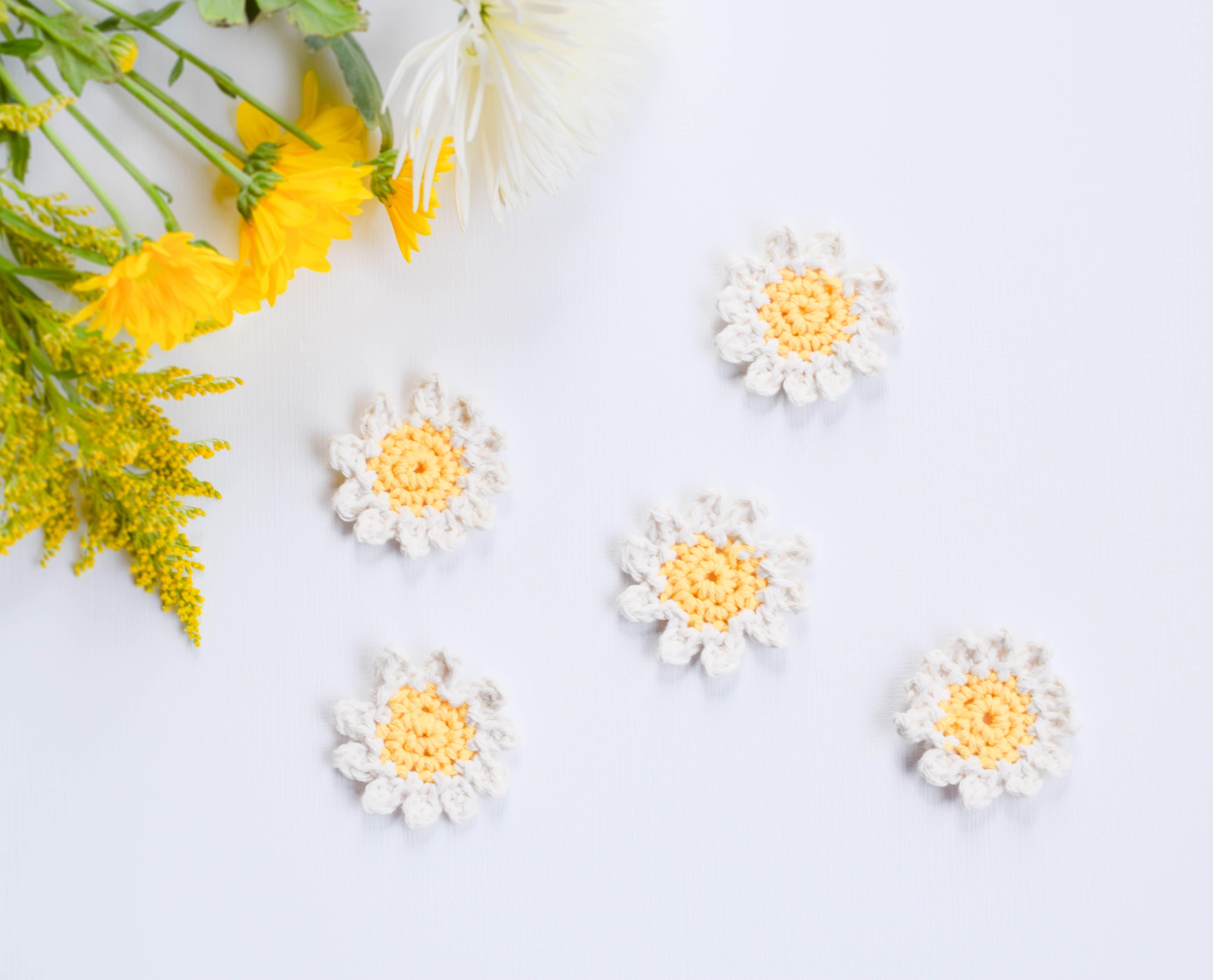 Sweet Daisies – Free Flower Crochet Pattern | Pinterest | Tejido