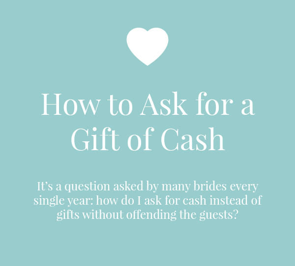 How To Ask For A Gift Of Cash