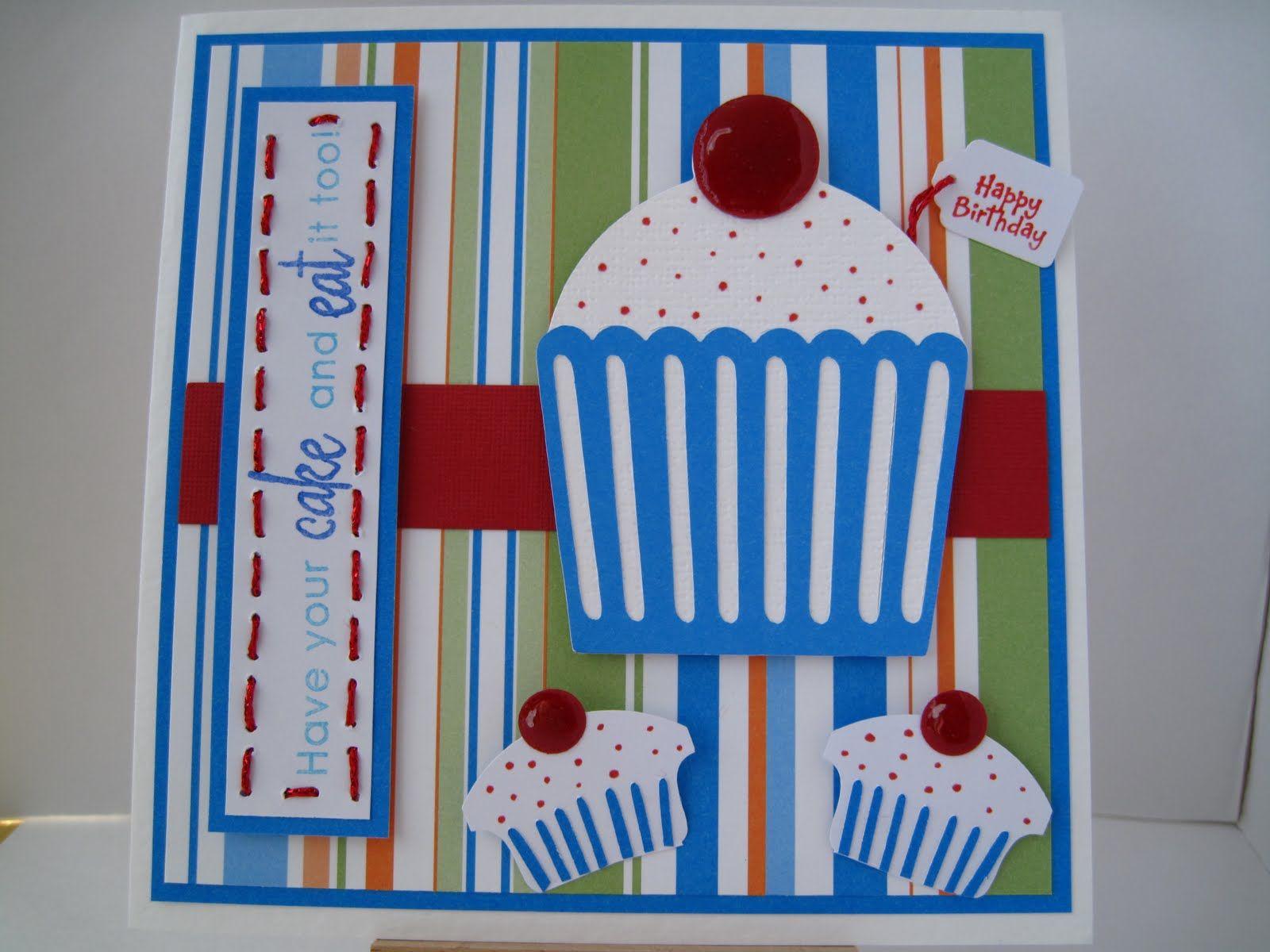cricut sweet treats cupcake birthday card  cupcake