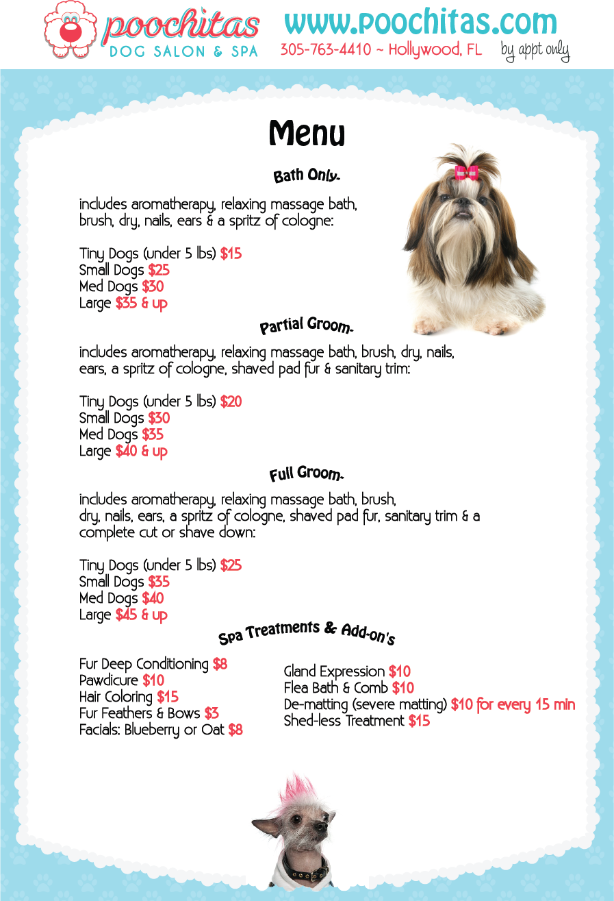 Dog Grooming At Great Prices Poochitas Com Mobile Pet Grooming Pet Grooming Business Dog Grooming Shop
