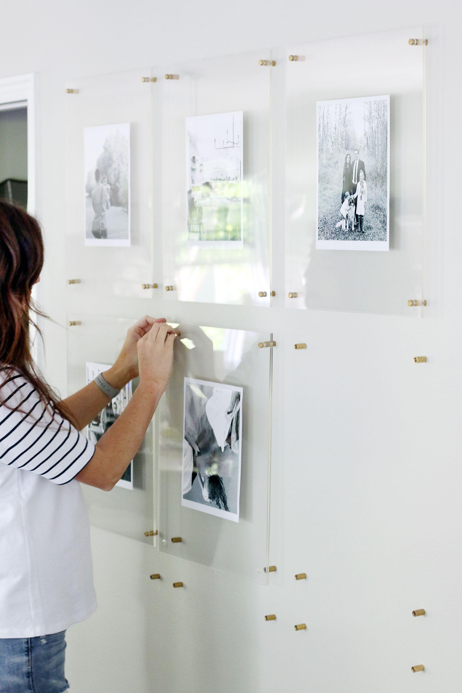 A Modern Kid Friendly Family Gallery Wall in