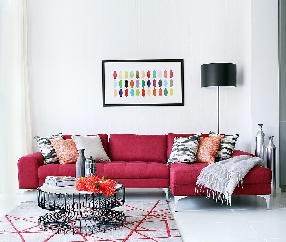Vibrant Trend 25 Colorful Sofas To Rejuvenate Your Living Room Red Couch Living Room Red Sofa Living Room Red Sofa Living