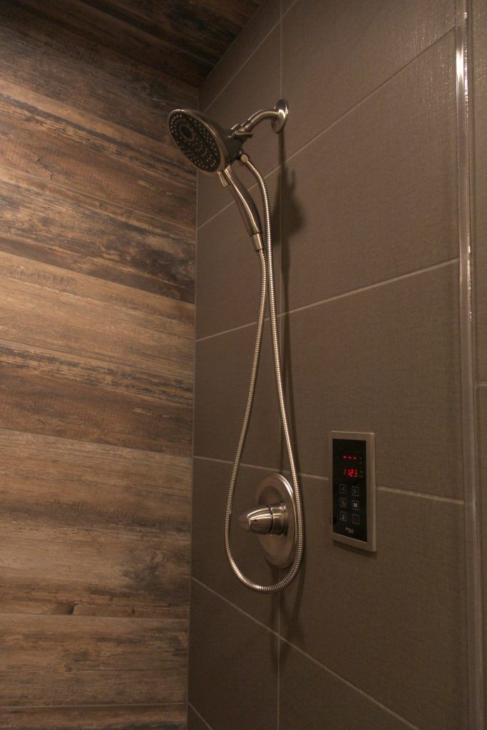 Wood Looking Accent Tiled Shower Wall Shower Tile Tile Accent Wall Shower Wall
