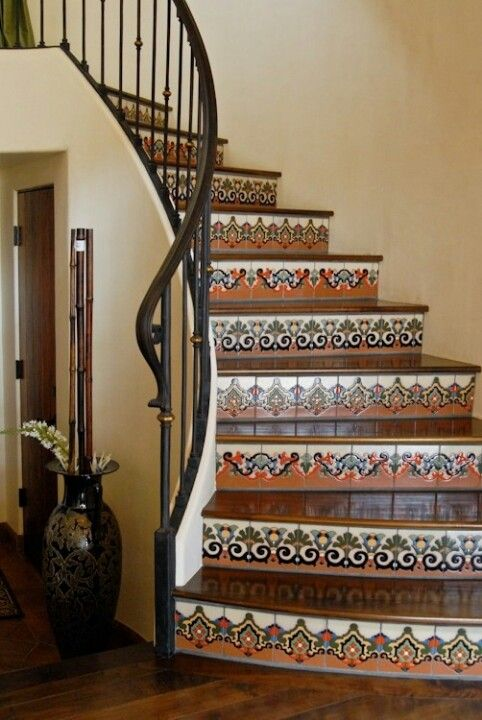 Mexican Tile Stairs Amp Iron Rod Instead Of Wood To Loft