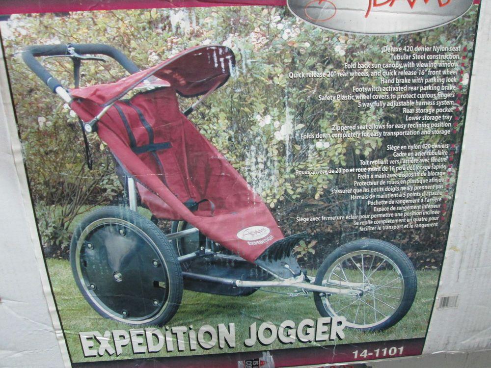 Adams Expedition Solo Jogging Stroller Baby Single Jogger Stroller