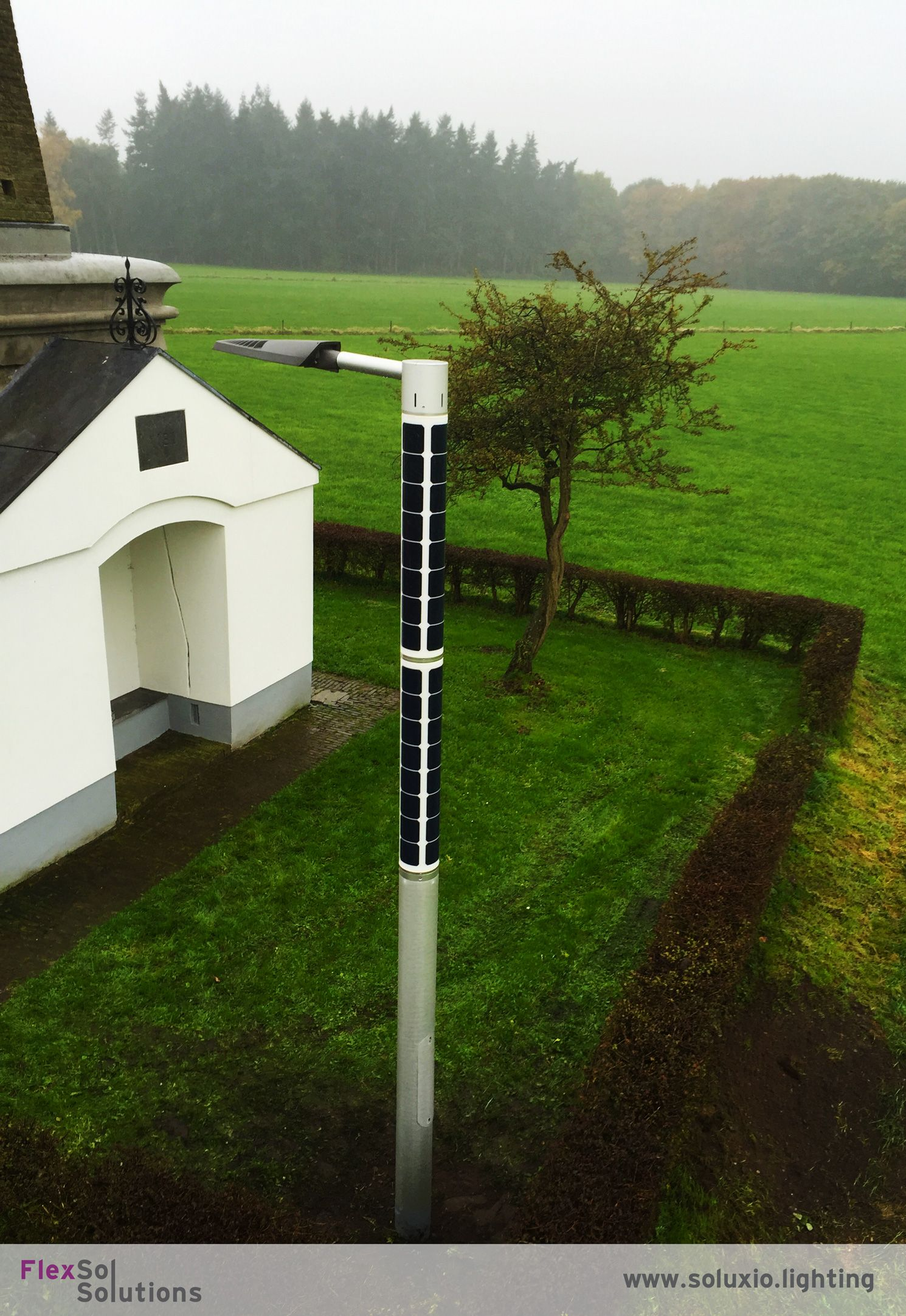 Soluxio solar street light at the countryside  The perfect off-grid