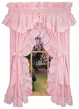Ordinaire Pink Ruffled Curtains