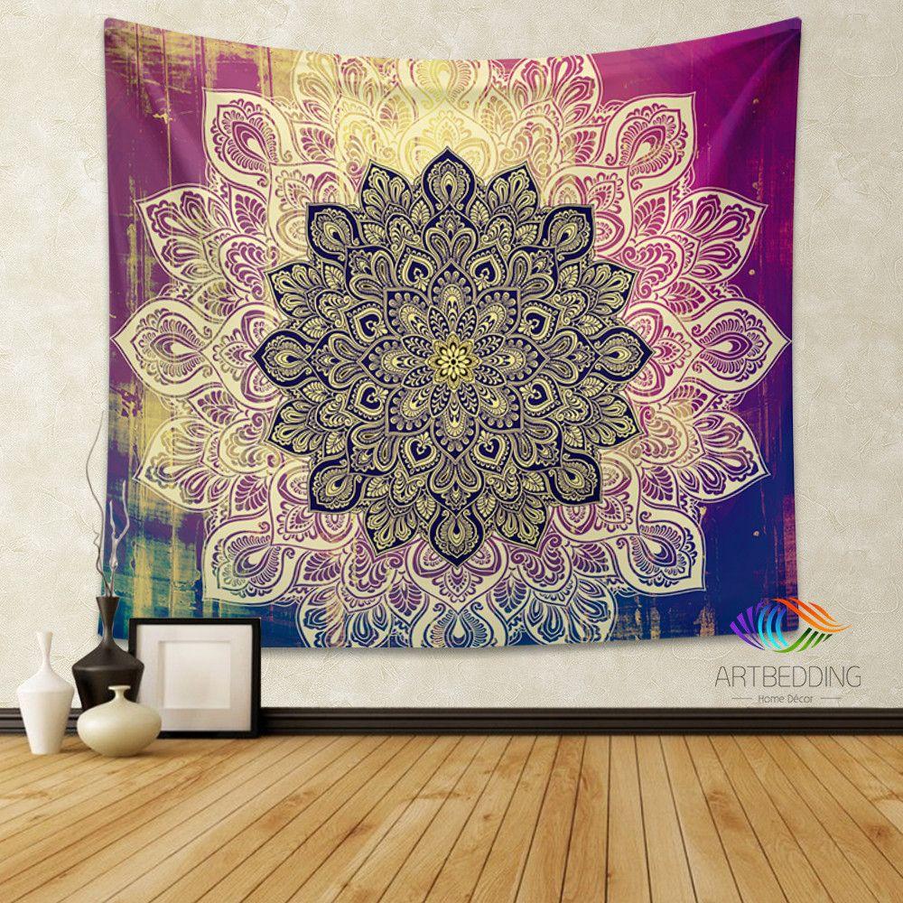 Mandala Tapestry Living Room