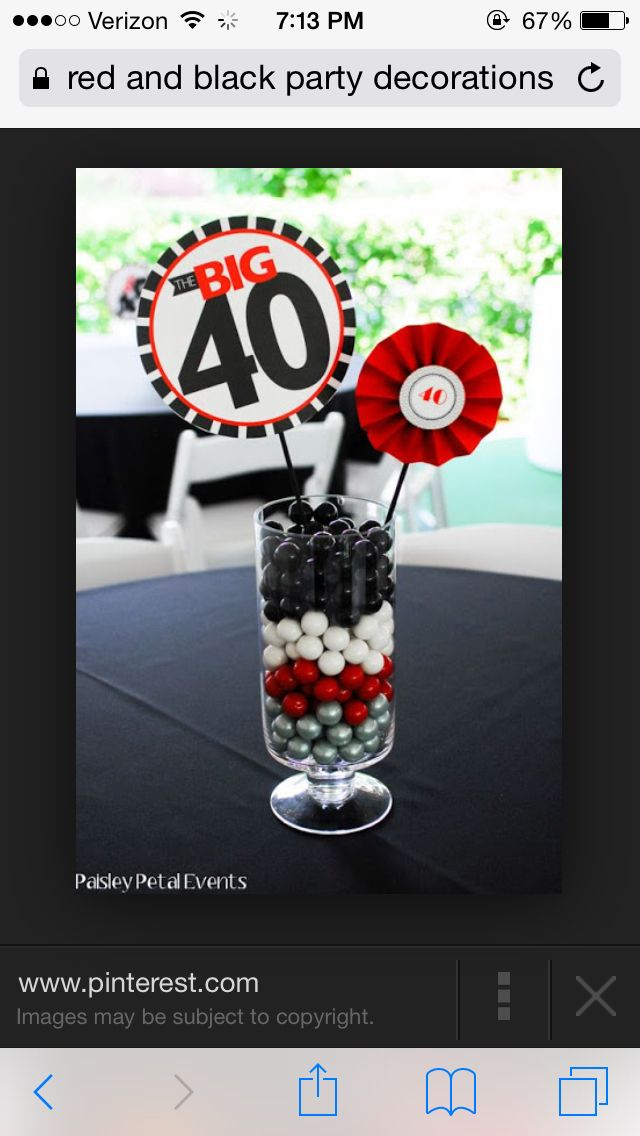 Diy 40th Birthday Party 50th Centerpieces Decorations For Men