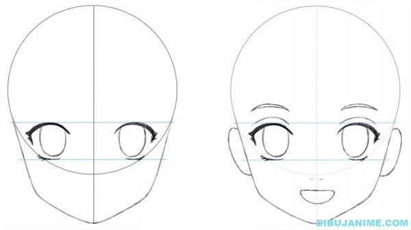 Paso 2 Para Dibujar Personajes Femeninos Como Dibujar Animes Aprender A Dibujar Anime Como Aprender A Dibujar
