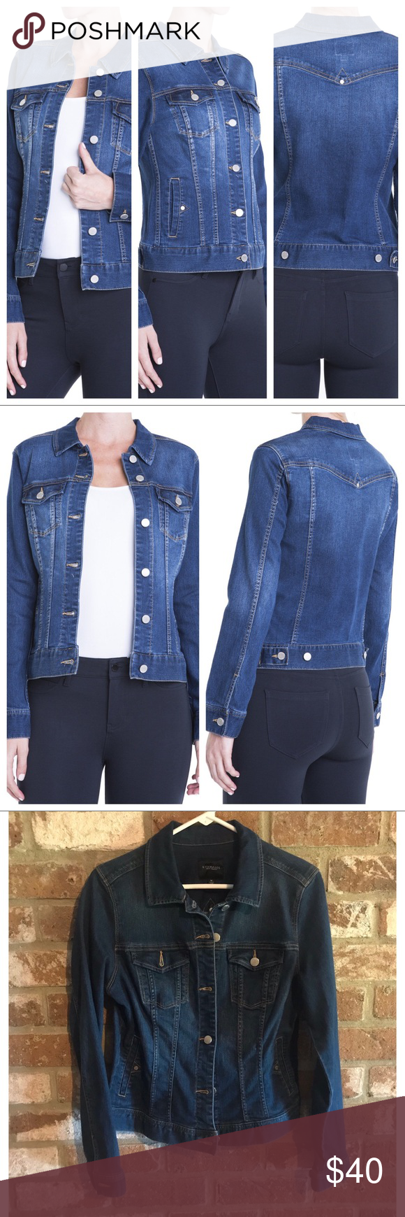 Liverpool Jeans Dark Americana Jean Jacket Med Liverpool Jeans Clothes Design Jackets [ 1740 x 580 Pixel ]