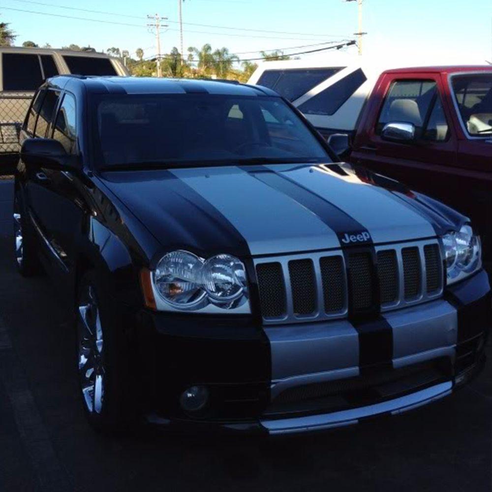 Full Sticker Decal Stripes for Jeep Grand Cherokee SRT8 Trim Body Lip Lamp Grill