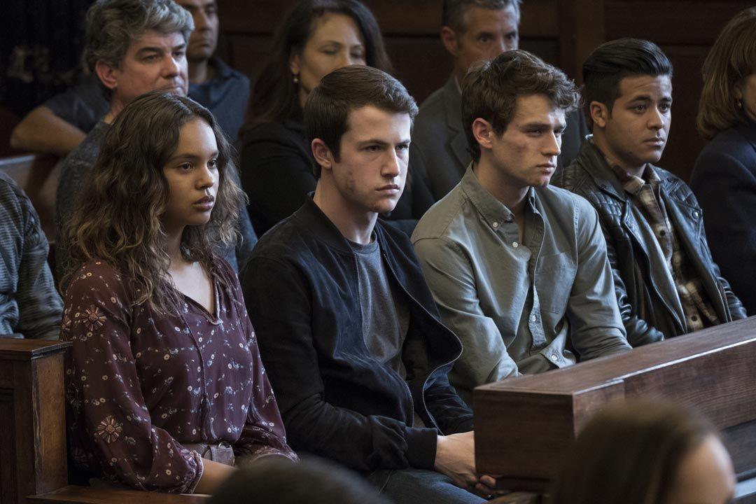 Alisha Boe Dylan Minnette Brandon Flynn Christian Navarro In Season 2 Episode 11 Of 13 Reasons Why 13 Reasons 13 Reasons Why Bryce 13 Reasons Why Netflix