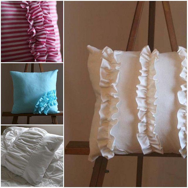 Ruffled pillows