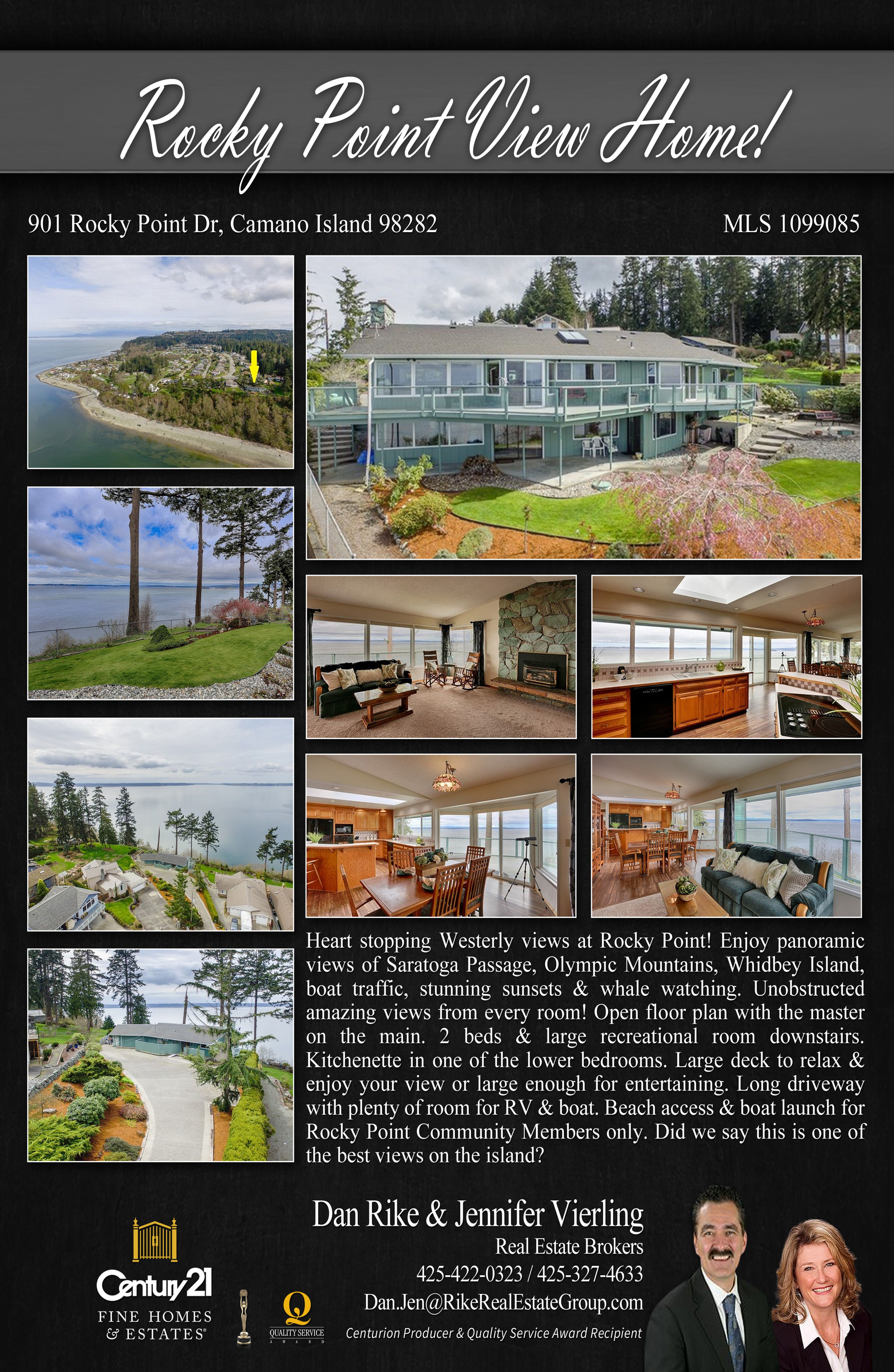 This Property Has Heart Stopping Westerly Views At Rocky Point Contact Dan Rike And Jennifer Vierling Today For Inquiries Camano Island Island Rocky Point