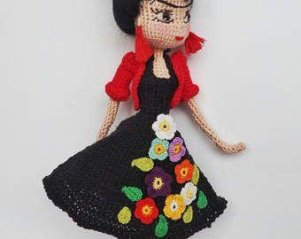 Amigurumi Frida Kahlo : Amigurumi frida etsy