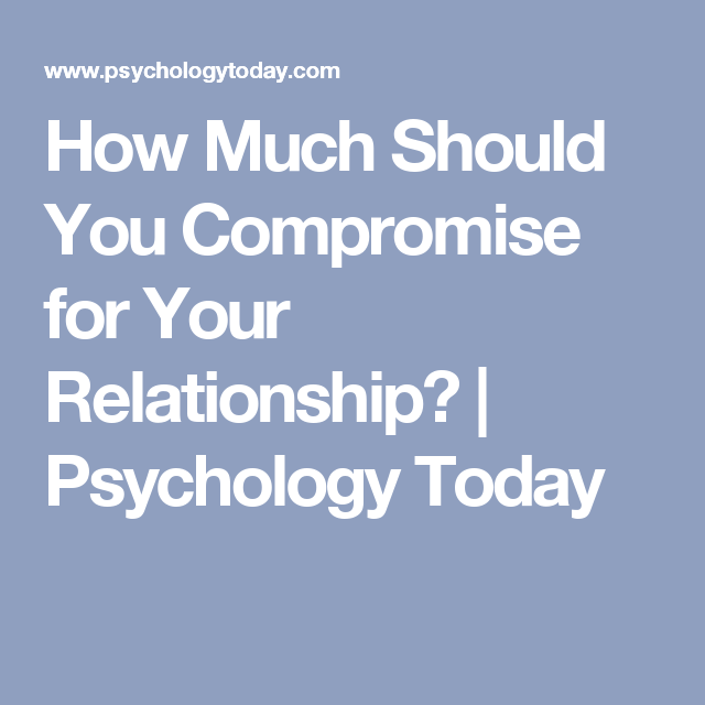 How much should you compromise relationship