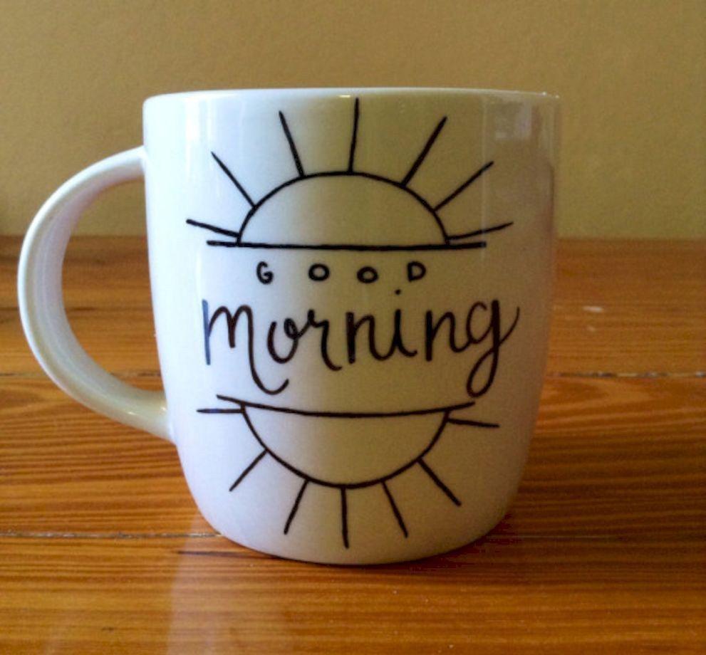 64 Cute and Funny DIY Coffee Mug Design Ideas You Should