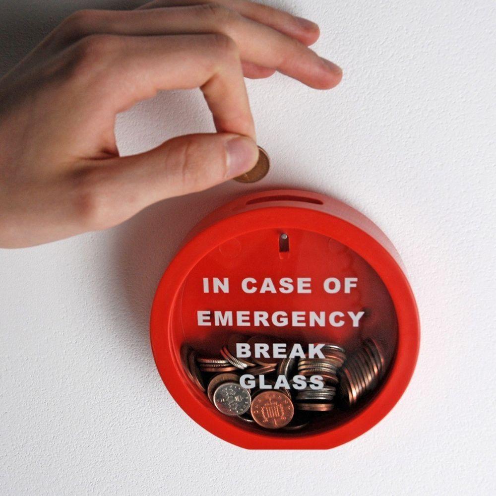 Emergency money box in case of emergency plastic piggy