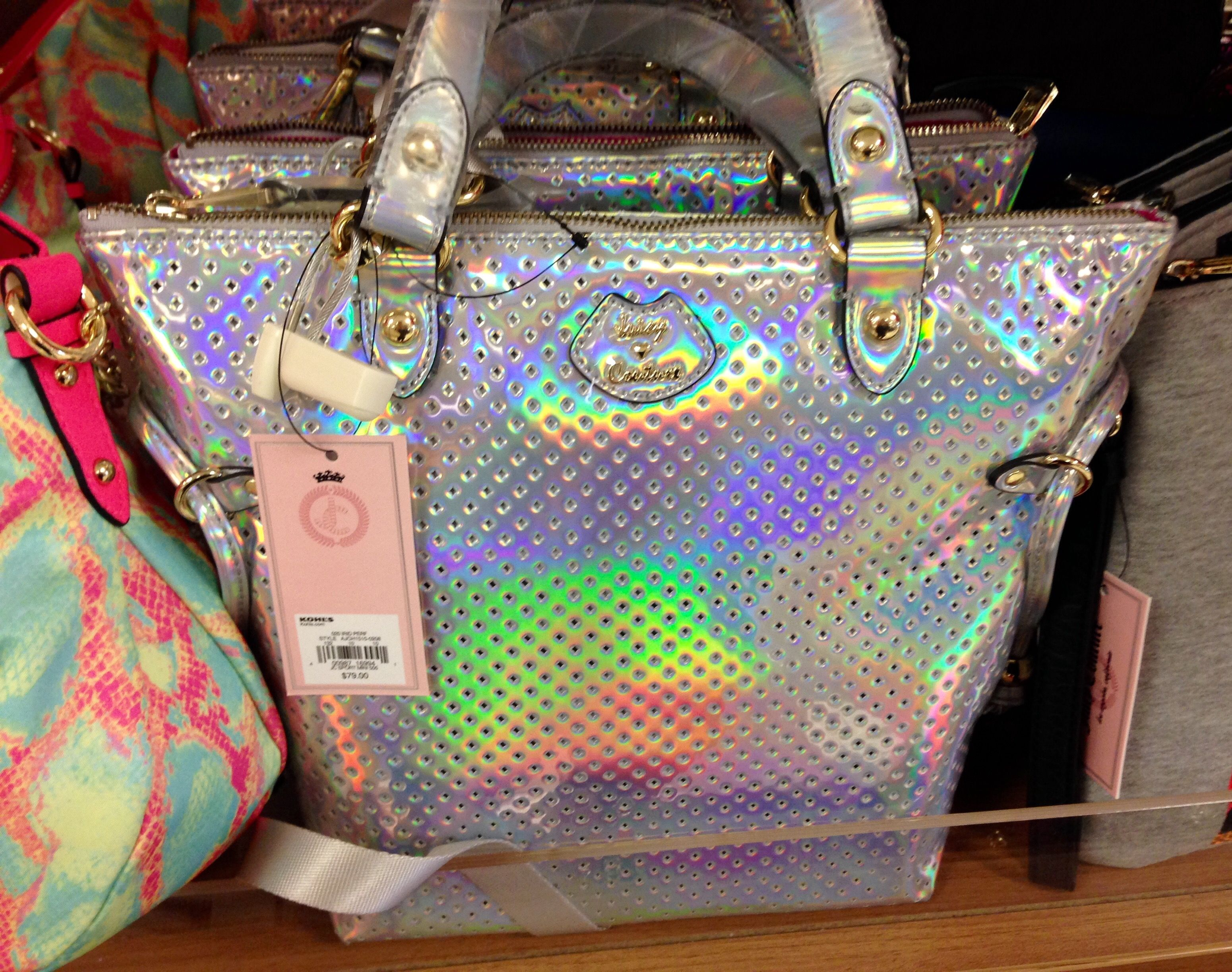 7af6800e3ec Juicy Couture Purse Iridescent Silver Kohl s