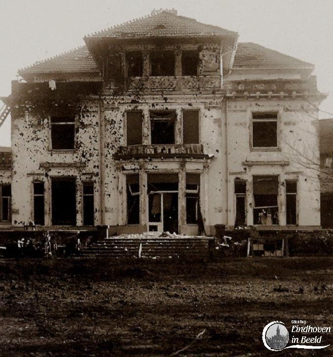 2d083714058f8d De villa na het bombardement op 19 september 1944. Na de bevrijding van  Eindhoven raken