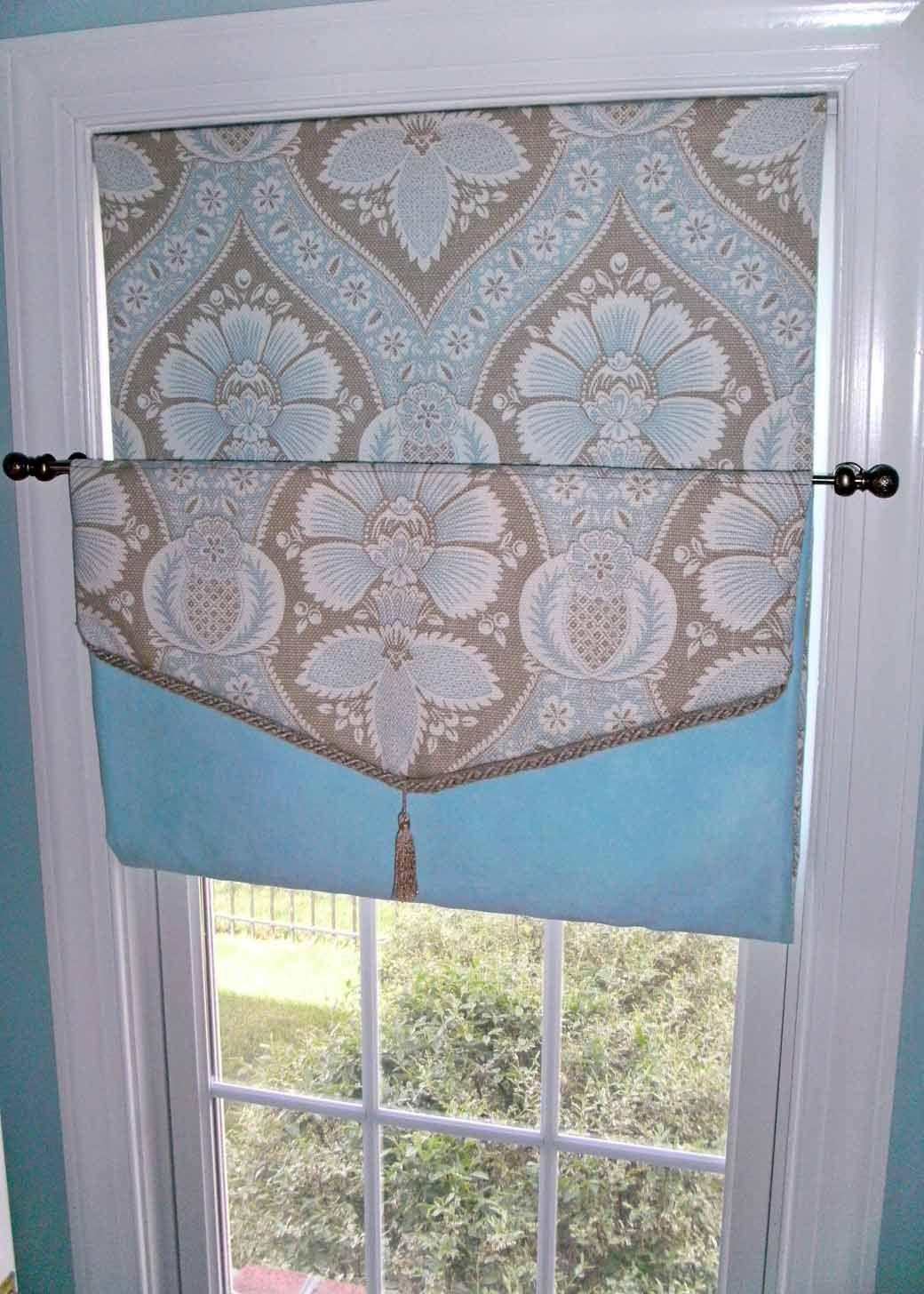 Cordless Roman Shade No Hardware Required Roman Shades French Door Curtains Diy Diy Shades