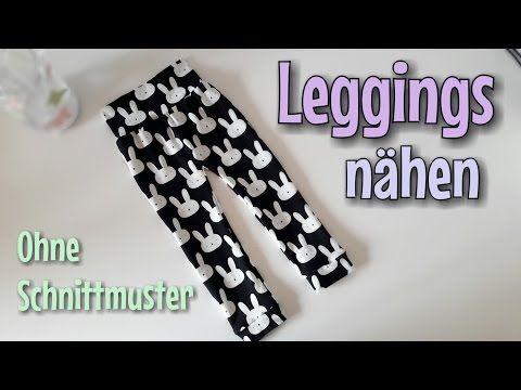 Leggings Nähanleitung - OHNE Schnittmuster - Anfänger - Nähtinchen ...