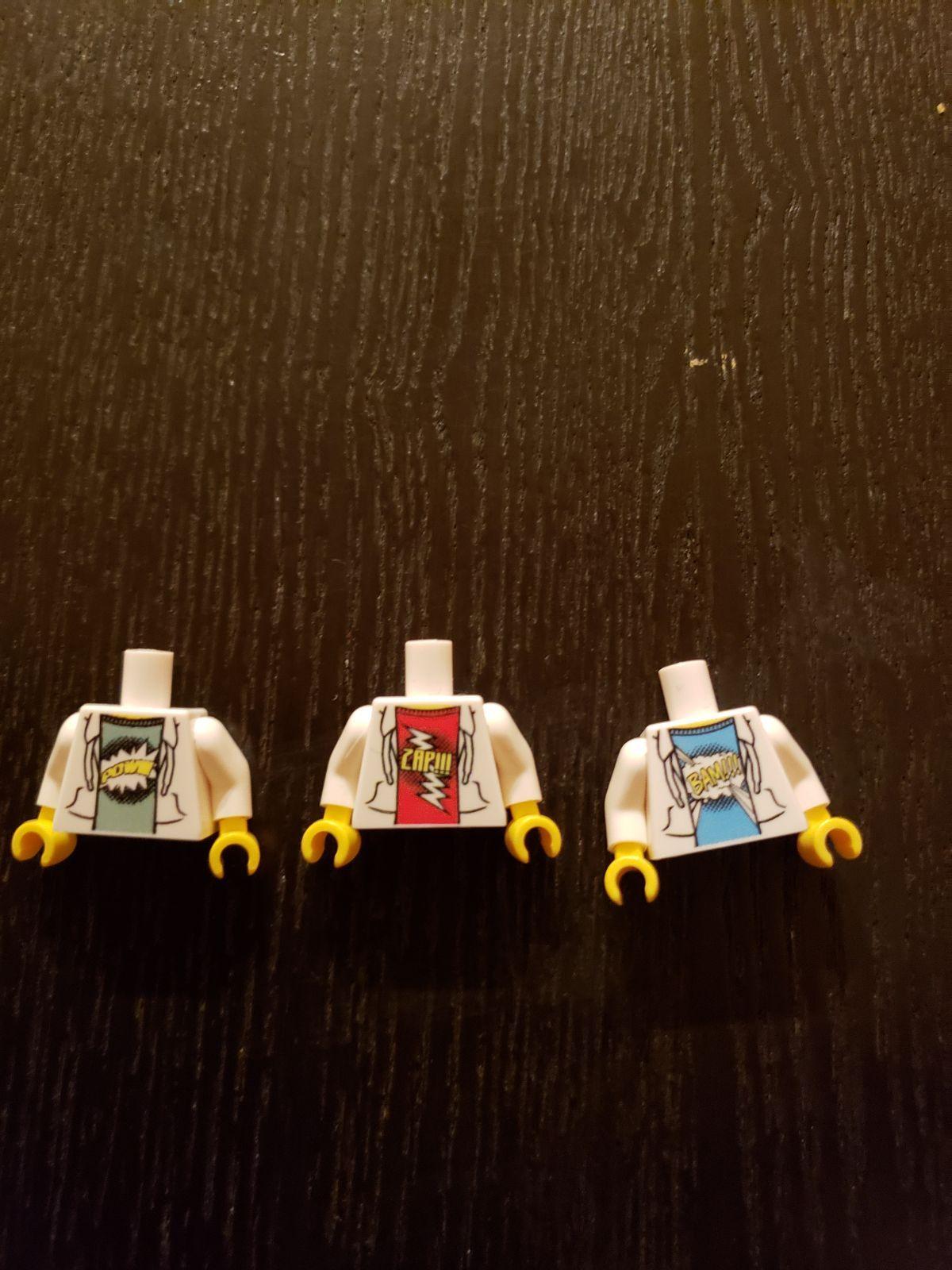 Zap!!! SDCC 2019 Exclusive Set LEGO Minifigure Torsos Bam!!
