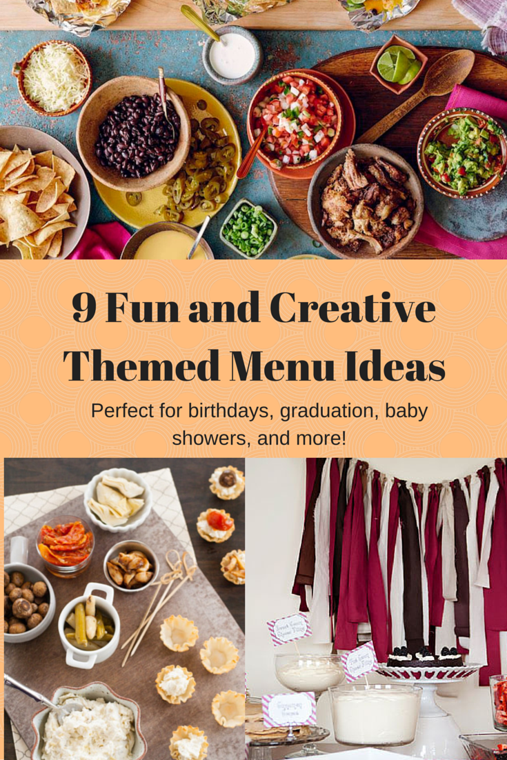 9 creative themed menu ideas for parties | gardening | dinner party