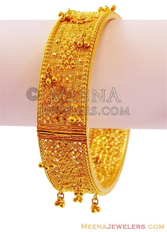 kada beaten products plain bangle gold bangles thick palsanijewels dsc com