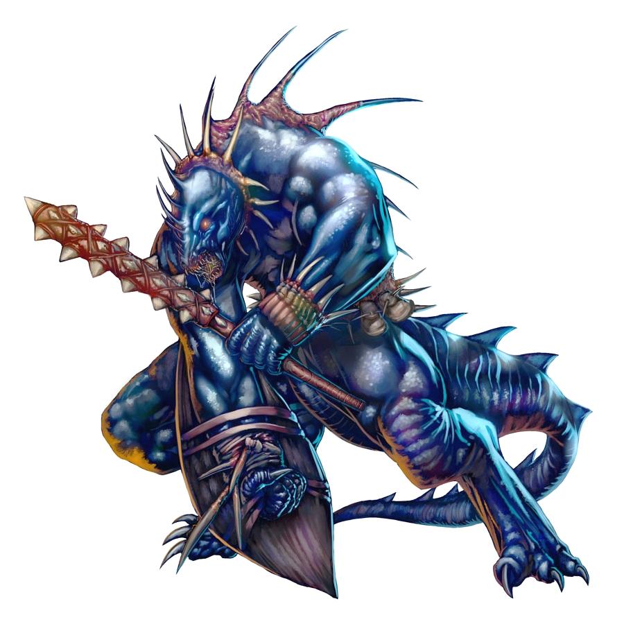Male Lizardman Fighter