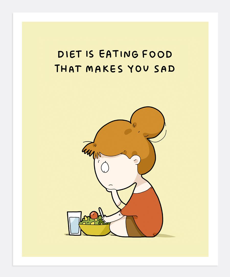 Diet Print A4 Funny Diet Quotes Diet Meme Diet Humor