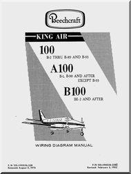 Beechcraft Super King Air 100 A 100 B 100 Aircraft Wiring