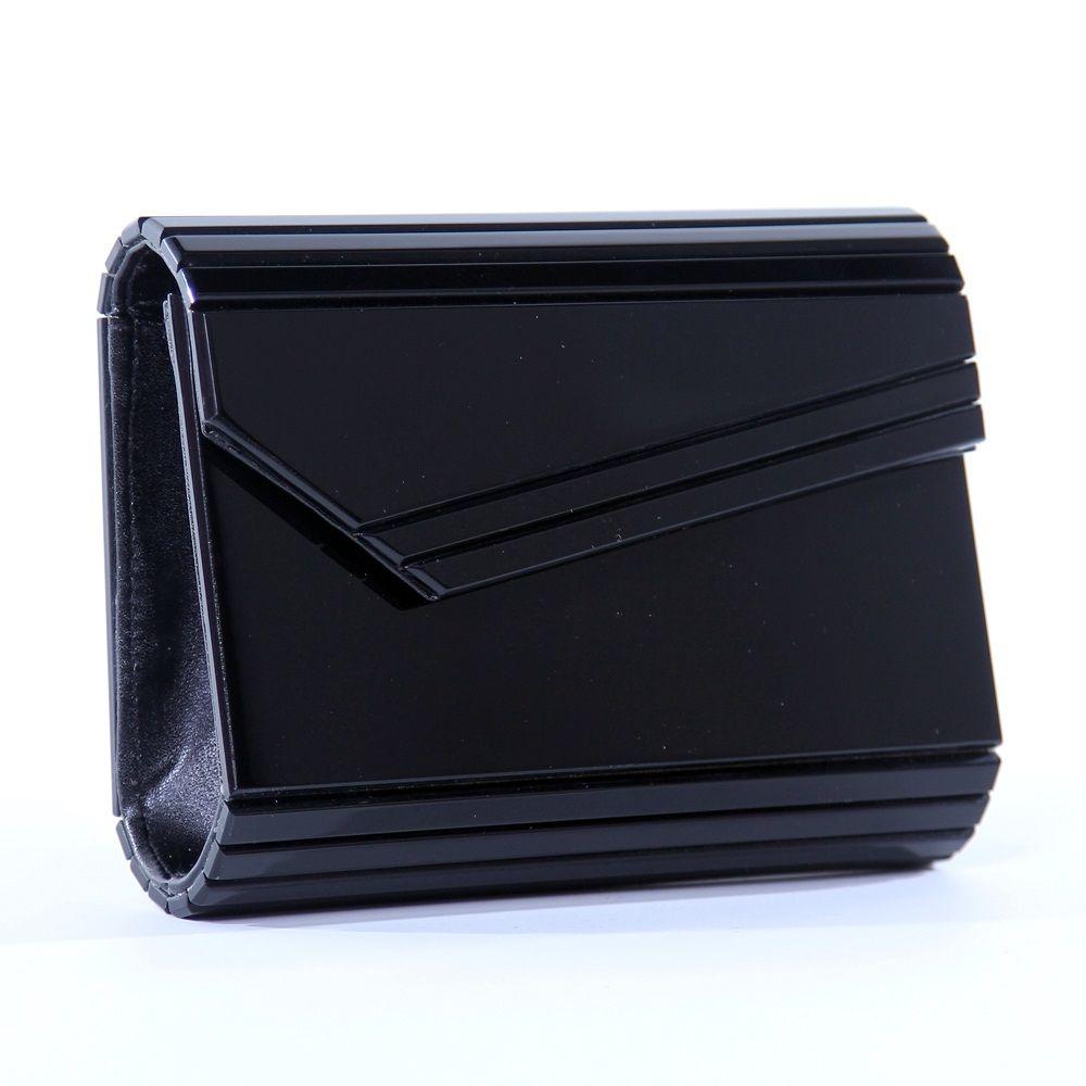 a692632f2 Jimmy choo inspired black clutch; perspex clutch; black clutch; Jimmy choo;  ac