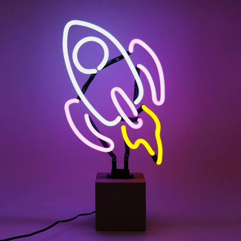 Neon Rocket Table Lamp Sign Red Candy Neon Lighting Neon Sign Bedroom Neon Light Signs