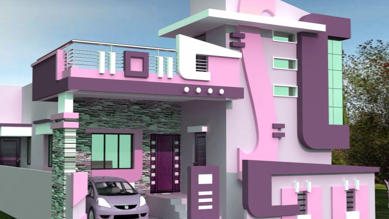 Porch Attatch Horizontal Stair Case Tower Designs Small House | Front Stair House Design | Unique | Simple | Veranda Stair | Low Cost 2 Bhk House | Front Jina