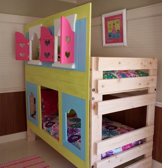 Add A Fun Facade To Bunk Bed Boy Room Toddler Bunk Beds Kid Beds